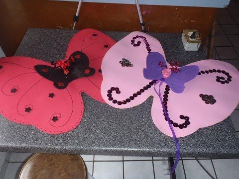 Disfraz como hacer alas de Mariposa o hada con fomy/ foami /goma eva