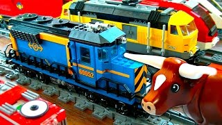 getlinkyoutube.com-Lego City Freight Train 60052 Mystery Brick & Battery Pack Problems Pt1