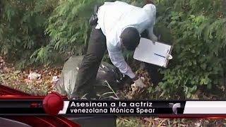 Recoleccion Restos cuerpo Monica Spear Actriz asesinada a tiros Muerta en Venezuela