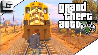 getlinkyoutube.com-GTA 5 Funny Moments - HIT BY A TRAIN! w/ The Pojkband