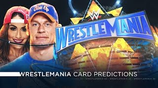 WWE Wrestlemania 33 - Card Predictions