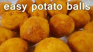 getlinkyoutube.com-FRIED POTATO BALLS - Tasty and Easy Food Recipes For Dinner to make at home - Cooking videos