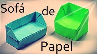 getlinkyoutube.com-Sofá de papel - Origami