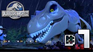getlinkyoutube.com-Waterfall T.Rex!! Jurassic World LEGO Game - Ep7