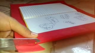Como encapar caderno com e.v.a