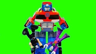 getlinkyoutube.com-Disney Pixar Cars Lightning McQueen gets saved by Transformers Optimus Prime Bane Joker