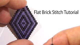 getlinkyoutube.com-BeadsFriends: Basic Brick Stitch tutorial - How to create a rhombus with beads