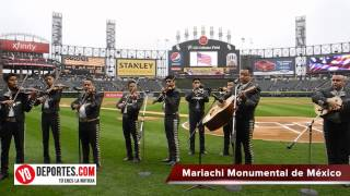 Mariachi Monumental de Mexico interpreta el himno de Estados Unidos el 5 de mayo 2015