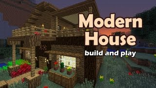 getlinkyoutube.com-Minecraft Modern House Tutorial