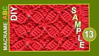getlinkyoutube.com-Macrame ABC - pattern sample #13