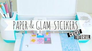 getlinkyoutube.com-Cricut Tutorial: Paper&Glam Planner Stickers