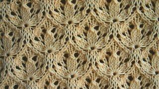 getlinkyoutube.com-Вязание спицами. Узор - Трилистник ( shamrock pattern)