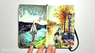 getlinkyoutube.com-Completed Moleskine Sketchbook