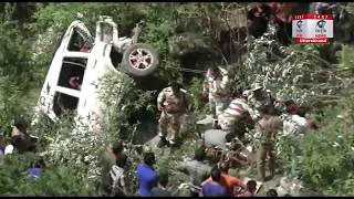Mussoorie: स्प्रिंग रोङ में एक स्कार्पियों गाड़ी गहरी खाई में गिरी, 1 बच्चे समेत 6 लोग घायल