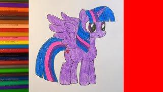 getlinkyoutube.com-How to draw pony Twilight Sparkle, Как нарисовать пони Твайлайт Спаркл