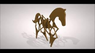 getlinkyoutube.com-caballo de juguete mecanismo  Theo Jansen