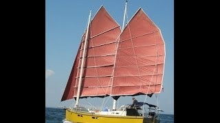 getlinkyoutube.com-Terrapin #2. A Junk Rigged Sailboat travels in Maine with a family aboard in 2012
