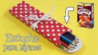 getlinkyoutube.com-Estuche para lápices   Manualidades con reciclaje