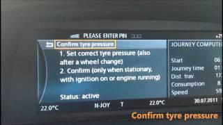 BMW E65 iDrive Flat Tyre Monitor Reset  YouTube