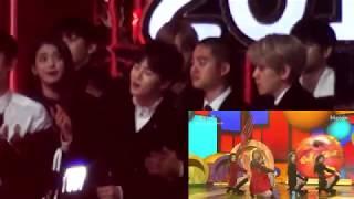 EXO's Reaction to Red Velvet