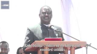 getlinkyoutube.com-Raila Odinga's tribute to the fallen and wounded soldiers