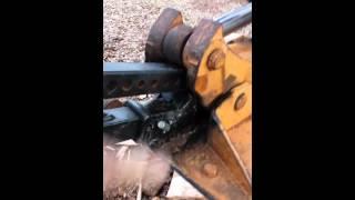 getlinkyoutube.com-Backhoe Wood Splitter