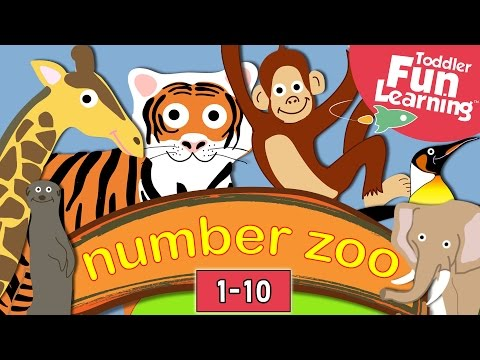 Learn to count with Number Zoo | Fun zoo animals: Lions, Elephants, Monkeys. Pre-school video