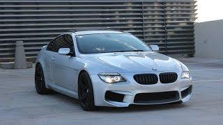 getlinkyoutube.com-BMW E63 650i Exhaust sound /// M6 Front Bumper /// Muffler Delete & walk around