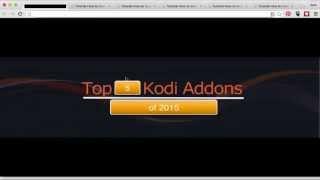 getlinkyoutube.com-Top 5 KODI ADDONS of 2015 + How to Install each!