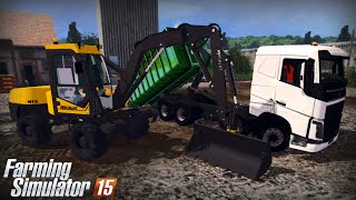 getlinkyoutube.com-Farming Simulator 15 - Gameplay #15 Volvo FH16 Ampliroll & Mecalac 12MTX