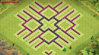 getlinkyoutube.com-Clash of Clans Th8 Farming Base *Insanity* Anti Barch!