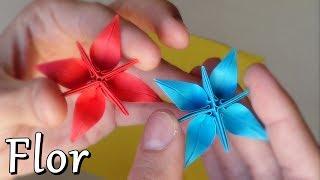 getlinkyoutube.com-Flor Estrella Fantástica de Papel - Origami