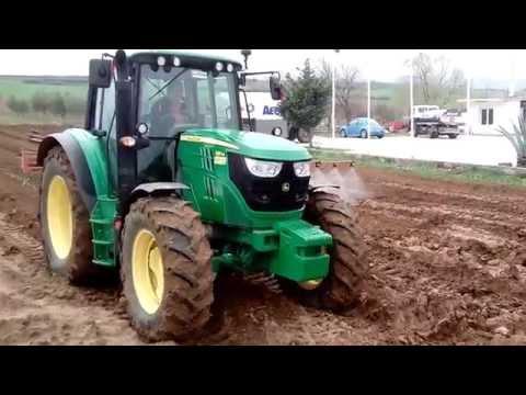 John Deere 6115M soil SPRAYING ραντισμα εδάφους σιτοχώρι σερρών