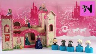 getlinkyoutube.com-Princess Mooshka Castle Disney Frozen Fashems Surprise Elsa Anna Tinkerbell