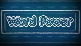 Word Power:  V, English Lessons for Beginners