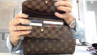 getlinkyoutube.com-Louis Vuitton favorite MM what can it fit???