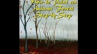 getlinkyoutube.com-Autumn Forest Acrylic Step by Step Painting on Canvas for Beginners