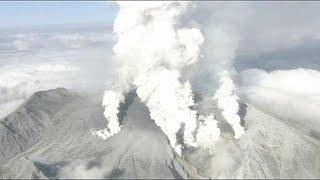 هشت مجروح در فوران آتشفشان در ژاپن