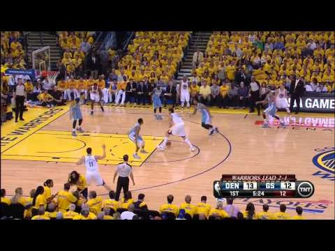 Andrew Bogut Dunks on JaVale McGee (Warriors vs. Nuggets)