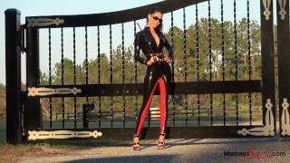 getlinkyoutube.com-Latex Riding Suit on Mistress Susi