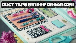 getlinkyoutube.com-DIY Binder Organizer // Duct Tape Zipper Pouch & Pen Holder // Back-To-School