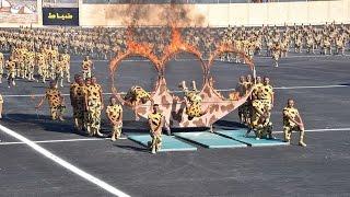 العرض القتالى بحفل تخرج الدفعه 152 من معهد ضباط الصف بحضور الرئيس السيسي