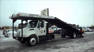 International 4400 With Jerr Dan Four Car Carrier Rollback Tow