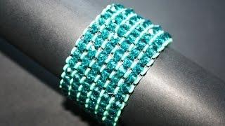 getlinkyoutube.com-Bracciale con rondelle in cristallo e Obeads - www.PerlineBijoux.com
