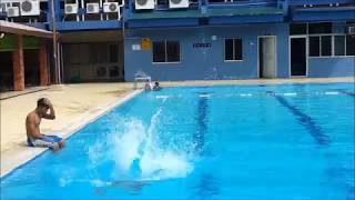 getlinkyoutube.com-Two Young Boys Playing in Swimming Pool