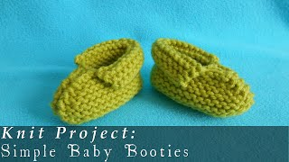 getlinkyoutube.com-Simple Baby Booties 3-12 months { Knit }
