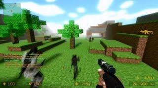 getlinkyoutube.com-Counter Strike Source Zombie Escape mod online gameplay on ze Minecraft map
