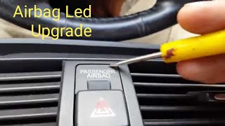 HOW TO REMOVE ACURA TL HAZARD BUTTON AND INSTALL LED BULB