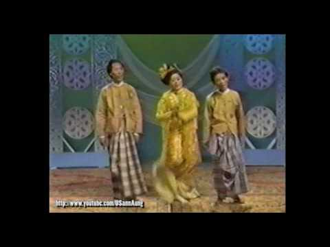 "#002 Zar Ga Nar, Thi Dar Win, and group ""Moe Nut Thu Zar A Nyein"" on Myanmar TV"