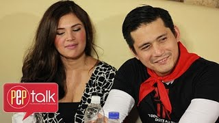 "getlinkyoutube.com-PEP Talk. Robin Padilla and Vina Morales and their ""first"" with each other"
